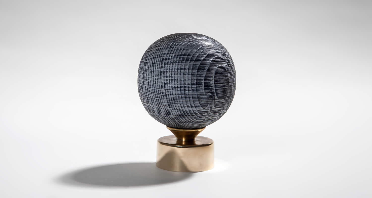 Ash Turned Large Sphere Finial