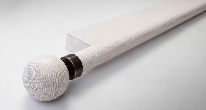 50mm Limed Ash Curtain Pole Facia