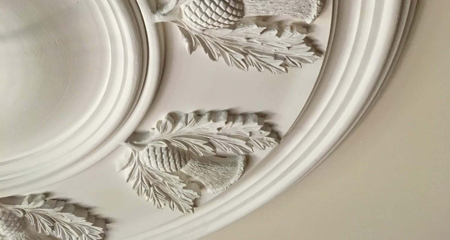 Small Victorian Plaster Ceiling Centre