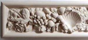 Grinling Gibbons inspired hand cast plaster wall frieze